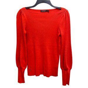 3/$25 Lauren Ralph Lauren Red Ribbed Sweater Sz M